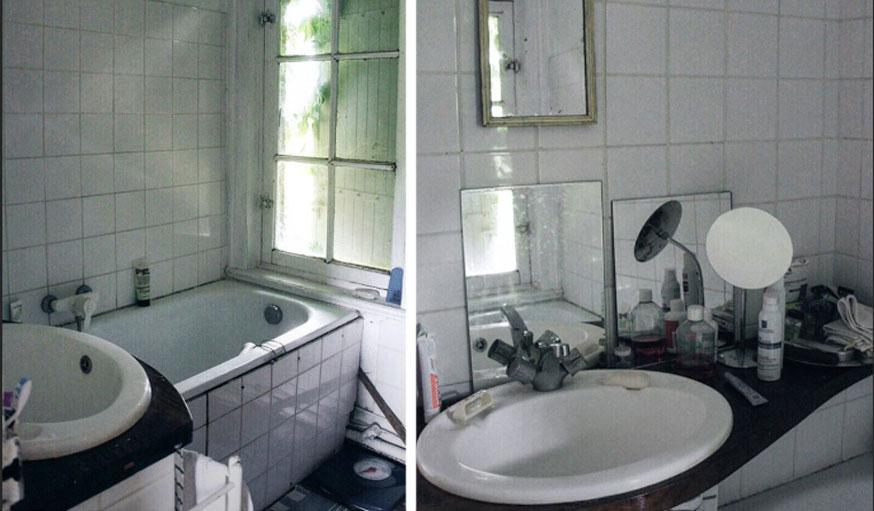 Salle de bains avant les travaux maison Normandie