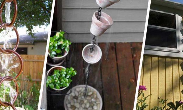 12 DIY pour fabriquer une chaîne de pluie
