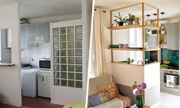 Avant / Après : Ils rénovent leur mini-cuisine vieillotte pour la rendre fonctionnelle et jolie