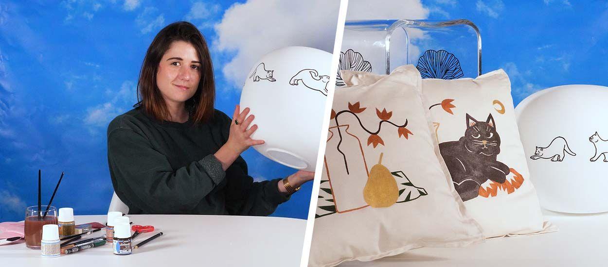 Les conseils d'une illustratrice pour customiser vos objets déco (+ concours !)