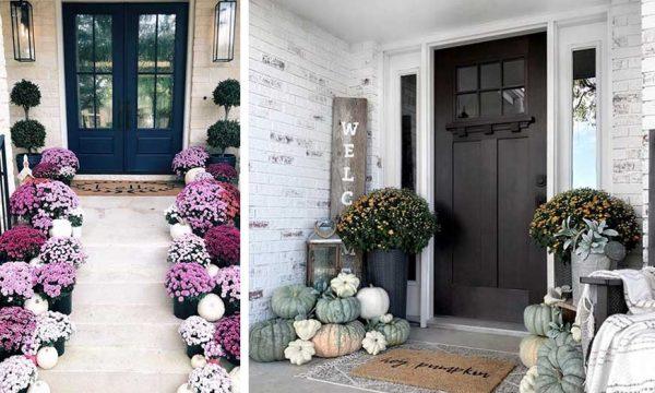 8 idées pour décorer sa porte d'entrée en automne