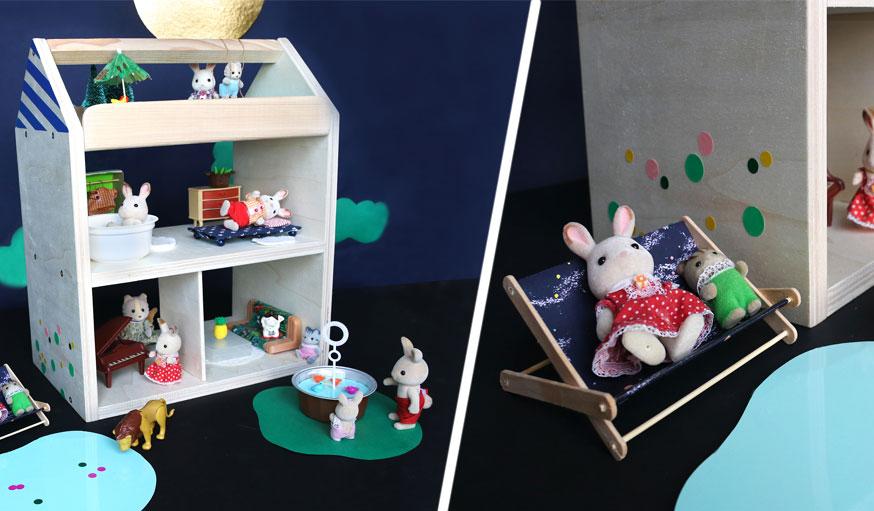 Maison de poupée en bois DIY
