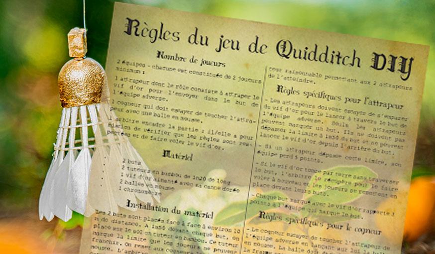 règles du jeu quidditch diy