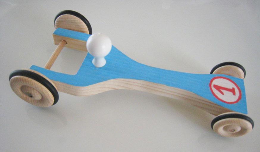 petite voiture de course enfant DIY