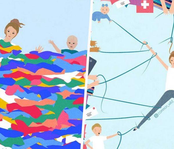Cette artiste illustre avec humour le quotidien de la vie de maman sur Instagram