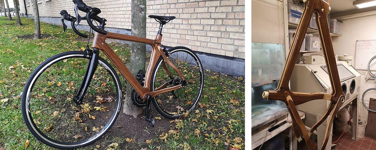 Il fabrique un magnifique vélo en bois tout seul avec les outils d'un Fab Lab