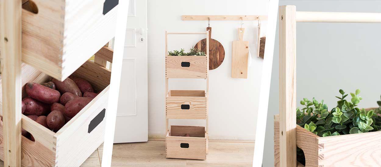 Tuto : Fabriquez des casiers de rangement en bois pour la cuisine