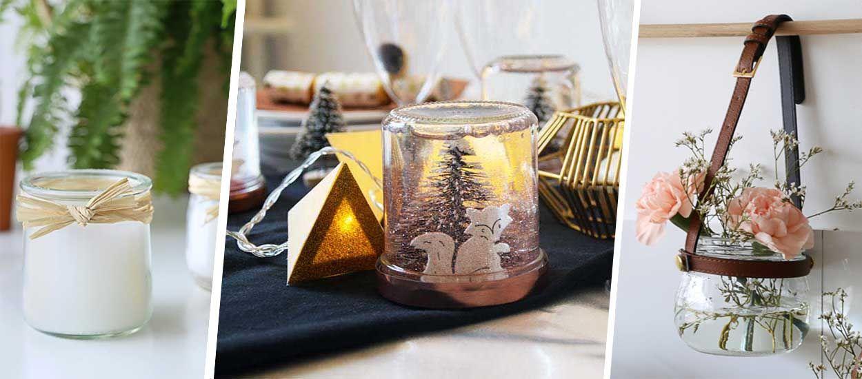 8 idées déco pour réutiliser vos bocaux en verre vides