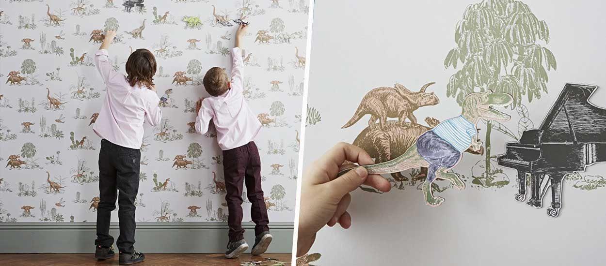 Papier peint magnétique ou interactif : 3 idées originales pour tapisser une chambre d'enfant