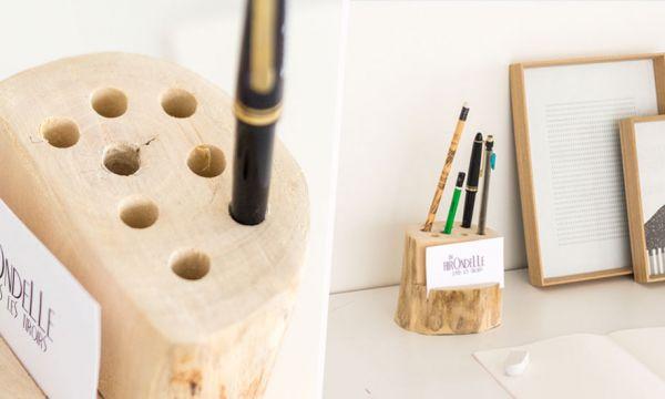 Tuto : Fabriquez un porte-crayon très nature à partir d'une bûche