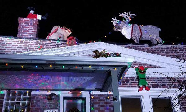 Cette déco loufoque revisite l'esprit de Noël