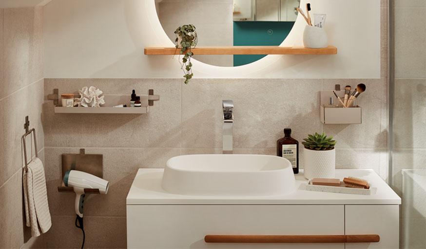 salle de bains Goodhome Castorama meuble Adriska