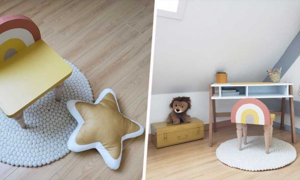 Tuto : Fabriquez une adorable chaise arc-en-ciel pour enfant