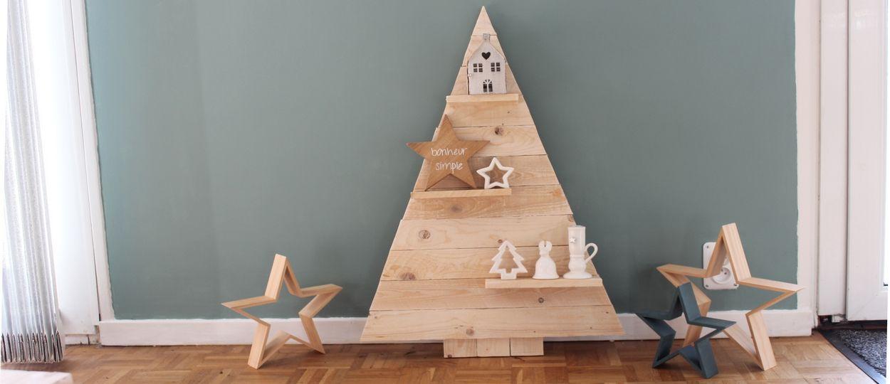 Tuto : Fabriquez un sapin étagère avec du bois de palette