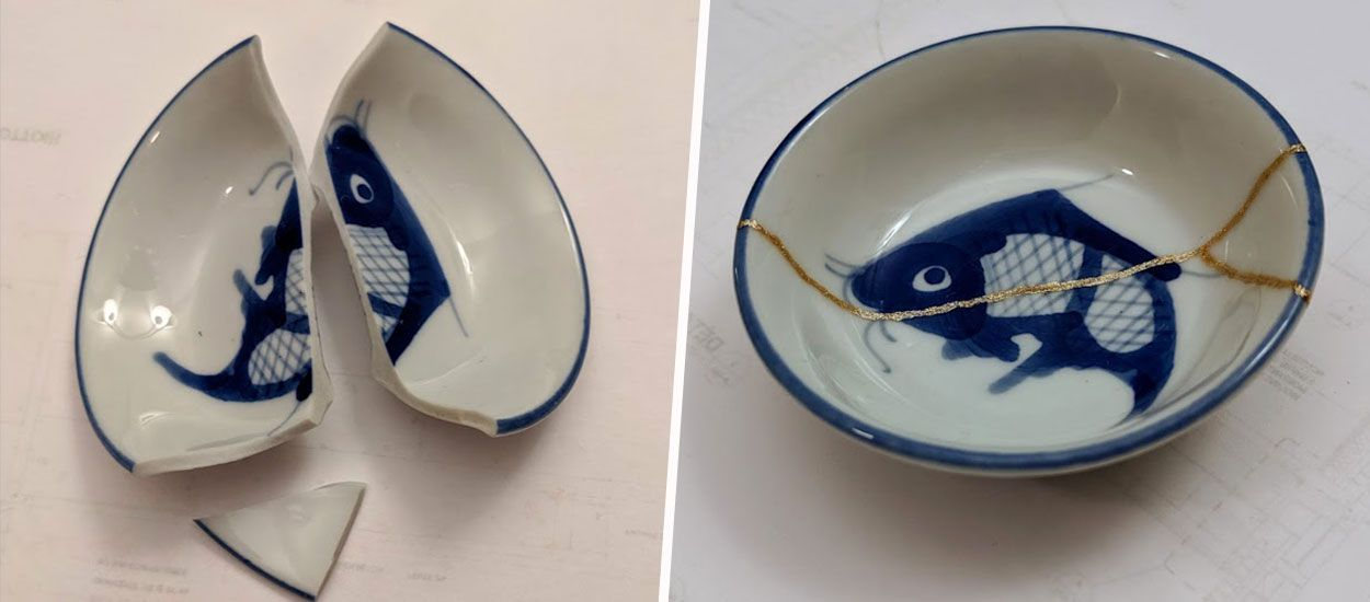 Tutoriel Kintsugi Apprenez à Réparer Votre Porcelaine Cassée Avec Du Vernis à Ongles Doré