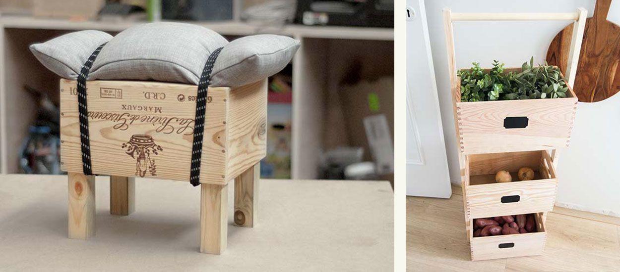 14 idées originales pour utiliser des caisses en bois en créant un meuble ou de la déco