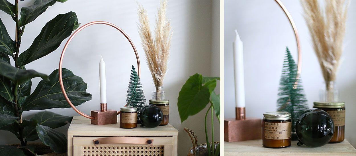 Tuto : Fabriquez un beau bougeoir en cuivre pour une décoration originale