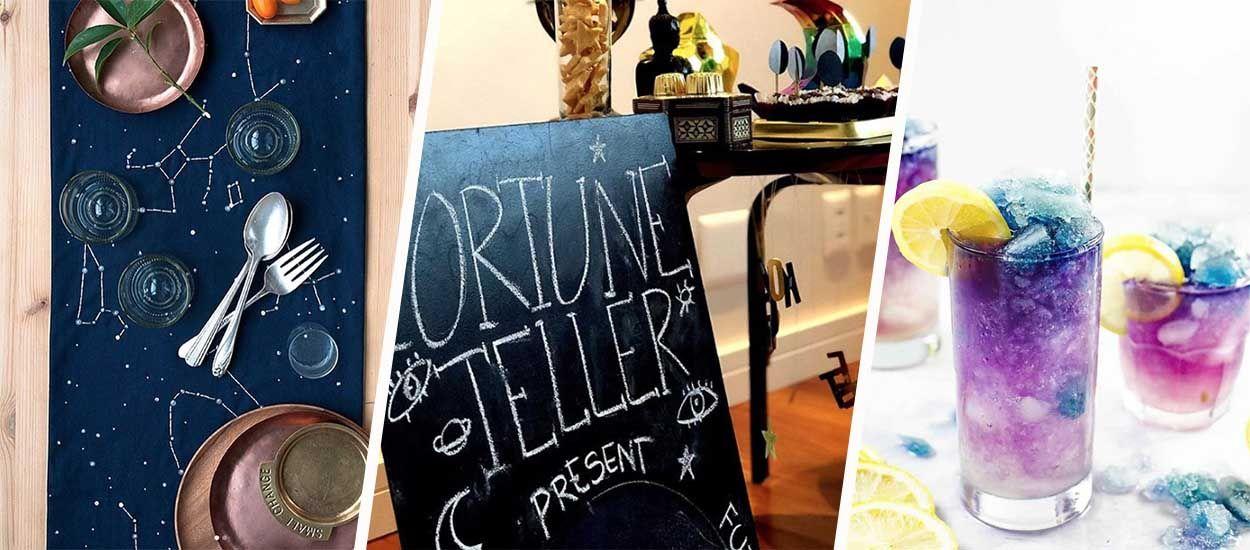 Surfez sur la tendance de l'astrologie et organisez une soirée à thème chez vous