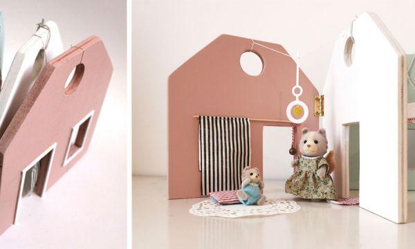 Tuto : Fabriquez une adorable maison de poupées qui se referme comme un livre