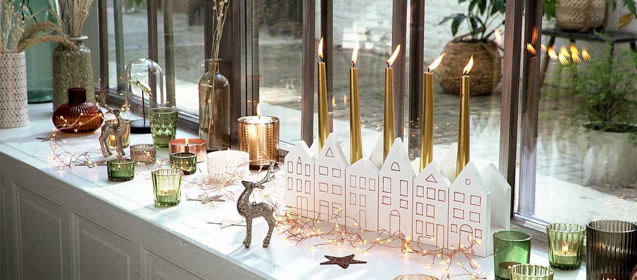 Tutoriel : Fabriquez un bougeoir en forme de maisonnettes pour un Noël scandinave