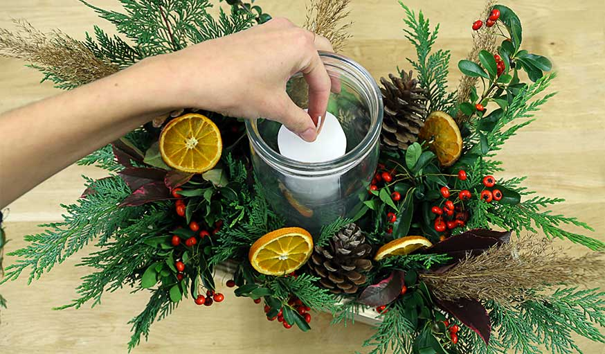 Tutoriel centre de table pour Noël étape 9