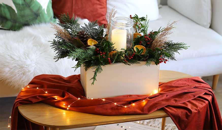 Tutoriel centre de table pour Noël