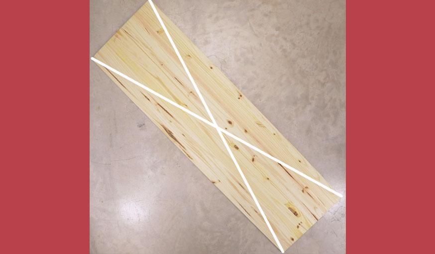 Tutoriel sapin en bois étape 1