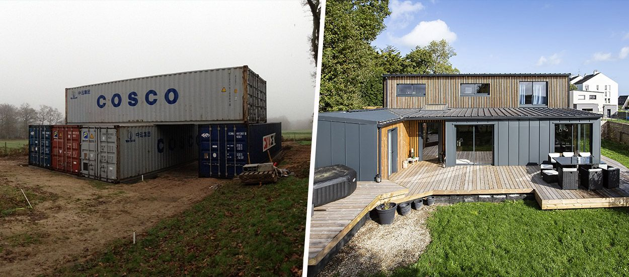 Autoconstruction : il a transformé six containers en maison luxueuse