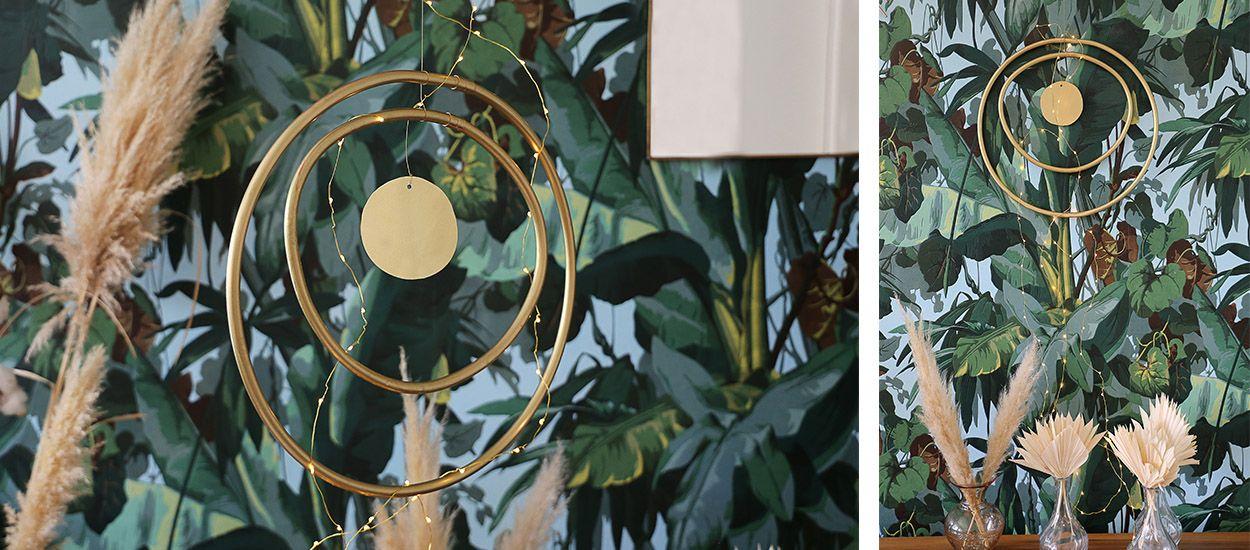 Tuto : Réalisez un mobile chic et design avec une couronne de cuivre