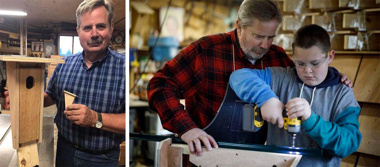 Cet homme a construit plus de 3000 nichoirs à oiseaux en hommage à sa femme décédée