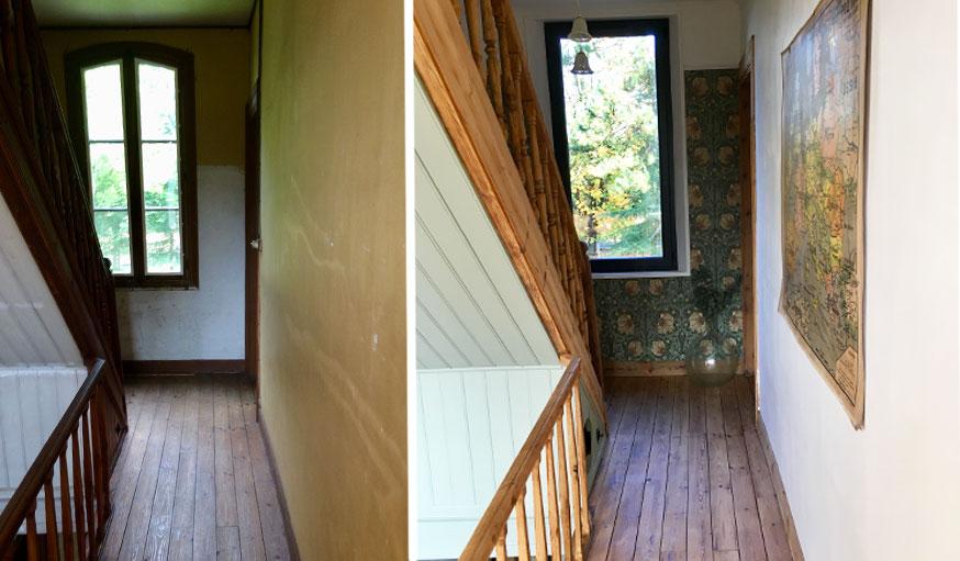 avant apres maison vintage escaliers