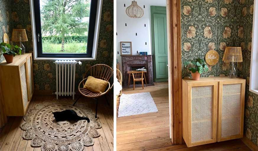 avant apres maison vintage palier