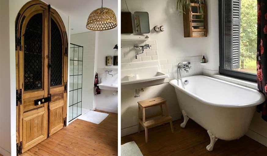avant apres maison vintage salle de bains après