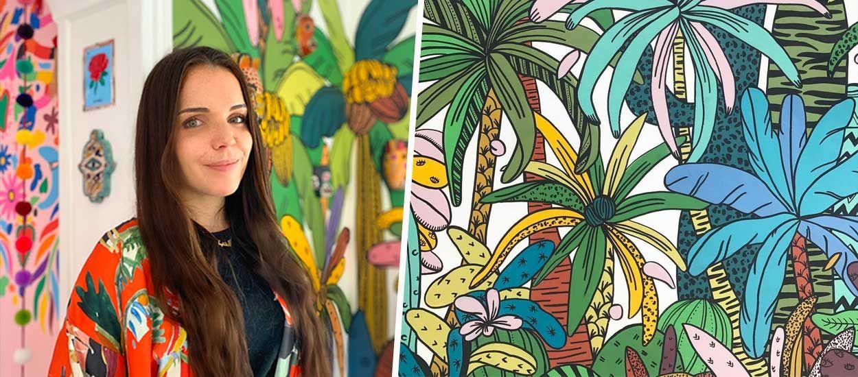 Jeu concours : une artiste haute en couleurs vient peindre une fresque chez vous !