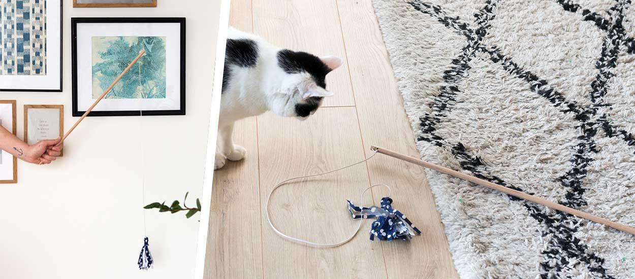Tuto : Fabriquez un jouet rigolo et mignon pour votre chat !