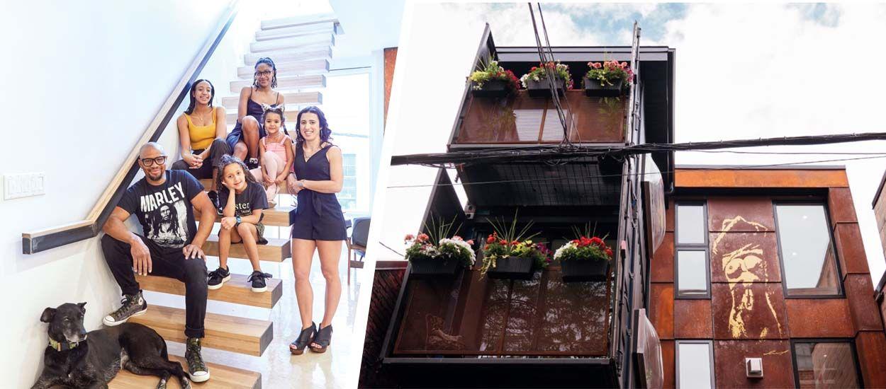 Ils ont construit une maison en conteneurs sur 3 étages