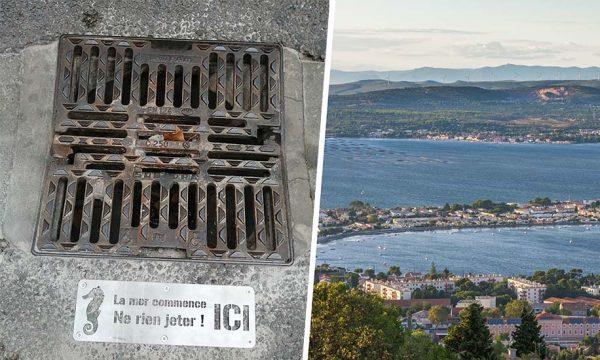 À Sète, on vous invite à ne plus jeter vos mégots dans les grilles d'évacuation d'eau !