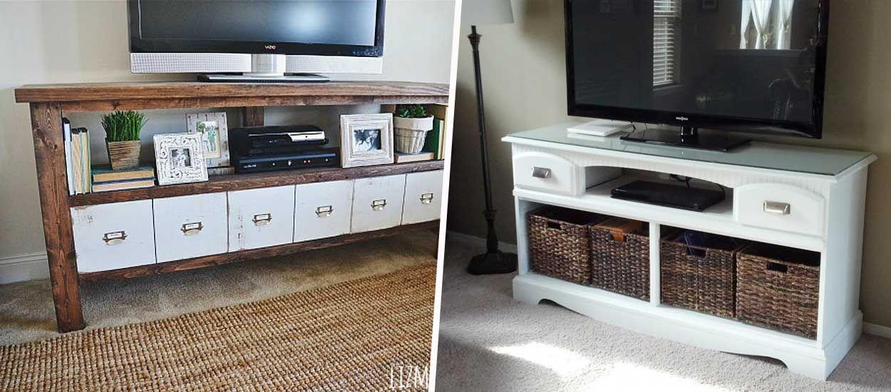 9 idées pour fabriquer un meuble télé original et pas cher