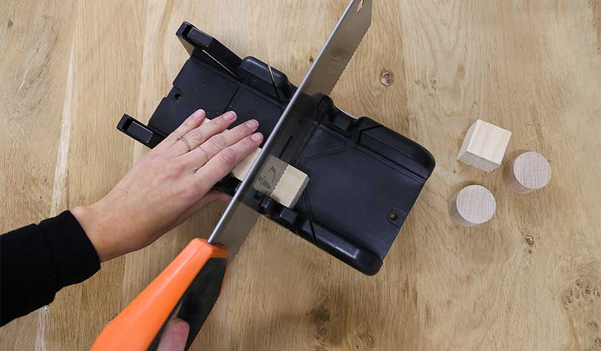 tutoriel bougeoirs en bois récup étape 1