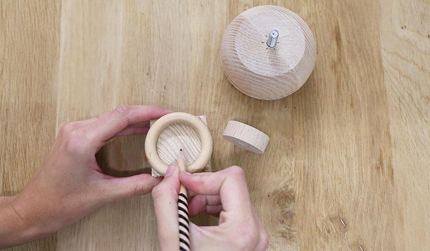 tutoriel bougeoirs en bois récup étape 2