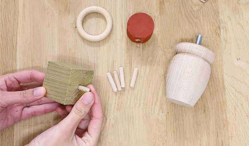 tutoriel bougeoirs en bois récup étape 5