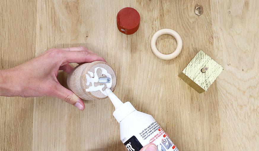 tutoriel bougeoirs en bois récup étape 6