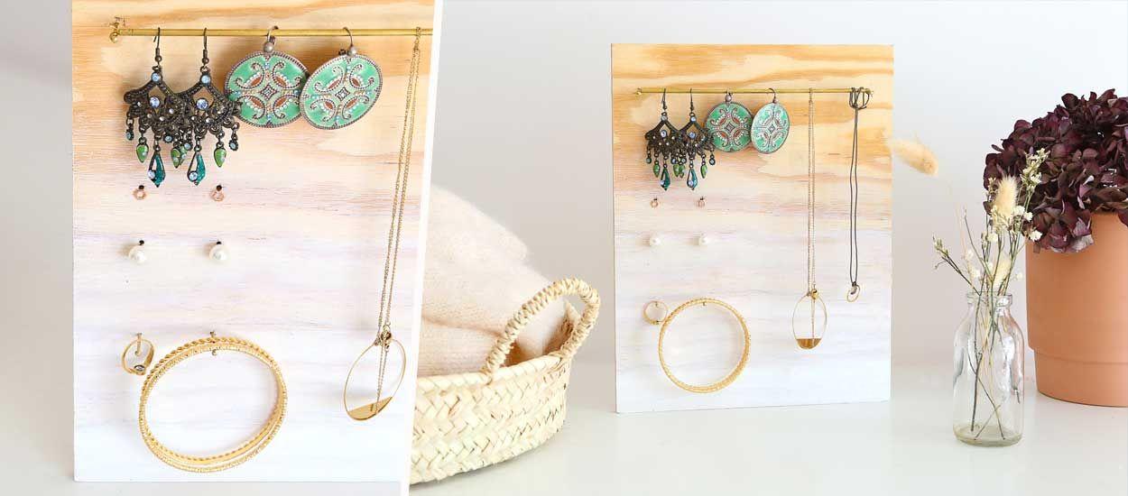Tuto : Fabriquez un porte-bijoux en bois effet tie and dye