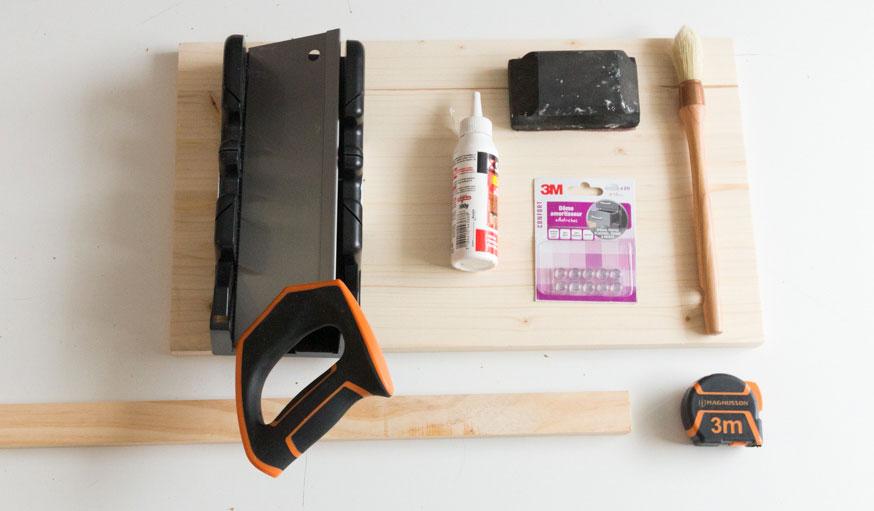 Tutoriel planche à découper gain de place matériaux et outils