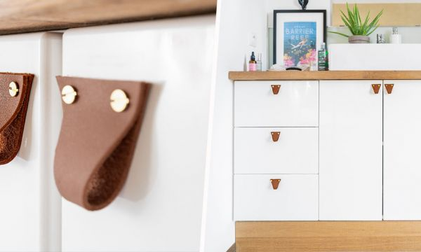 Tuto : Fabriquez des poignées de meuble en cuir pour un relooking à petit prix