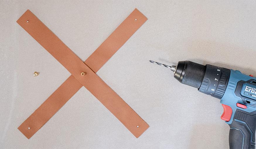 Tutoriel suspension en cuir pour plante étape 6