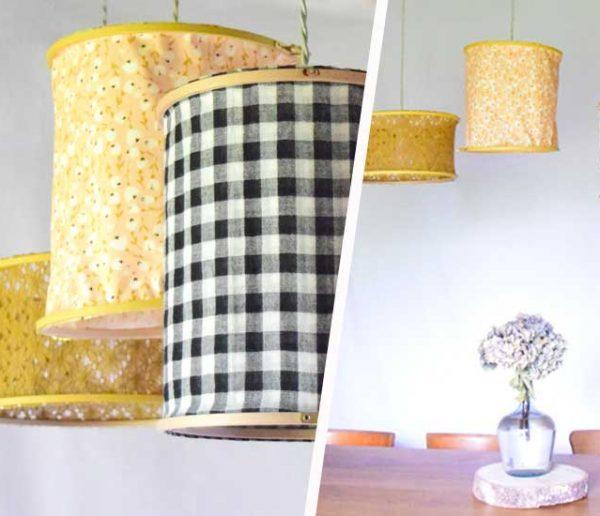 Tuto : Réalisez des abat-jours en tissu pour moins de 10 euros