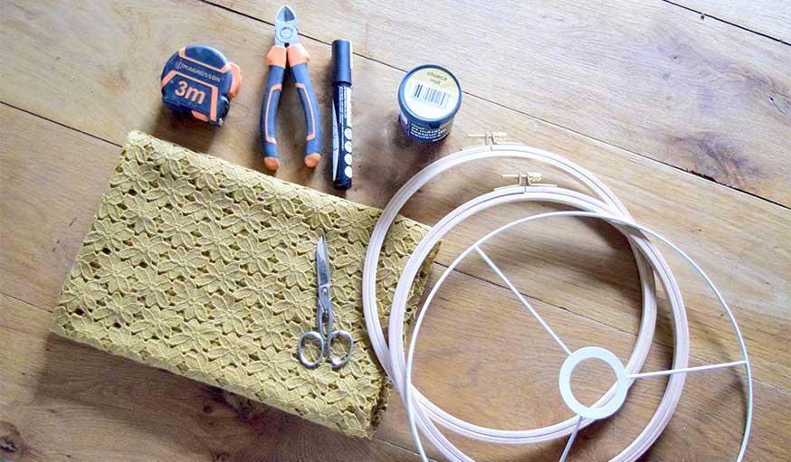 tutoriel suspensions en tissu matériel et outils