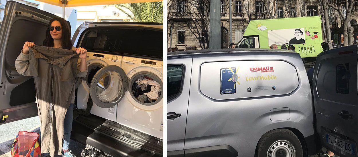 Emmaüs lance la Lavo'Mobile : une machine à laver itinérante pour les plus démunis