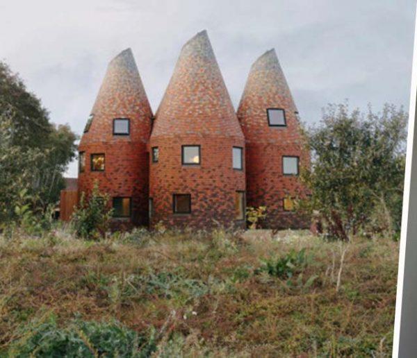 Cette famille vit dans une maison toute ronde inspirée des tourailles à houblon